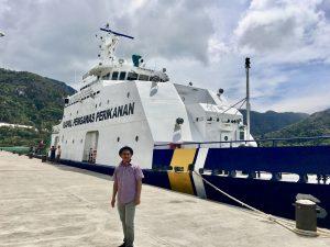 Kapal Pengawas Perikanan di Selat Lampa Natuna